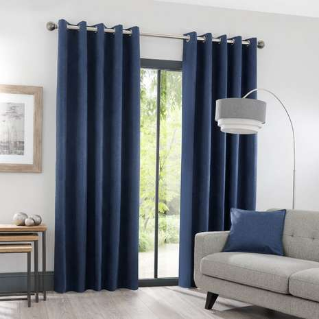 Lunar Pink And Navy Blackout Curtain